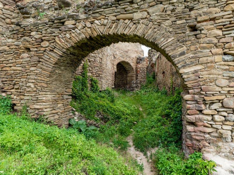 Παλαιά ακρόπολη Saschiz στοκ εικόνες