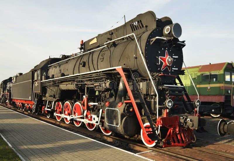 Παλαιά ατμομηχανή στο μουσείο σιδηροδρόμων Brest Λευκορωσία στοκ εικόνες