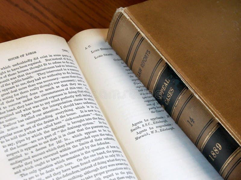 Παλαιά βιβλία νόμου στοκ φωτογραφίες