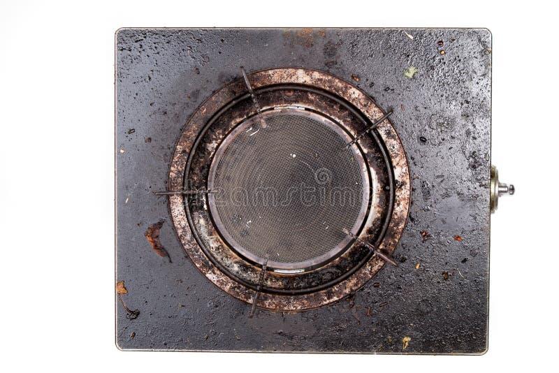 Παλαιά βρώμικη σόμπα αερίου στοκ φωτογραφίες