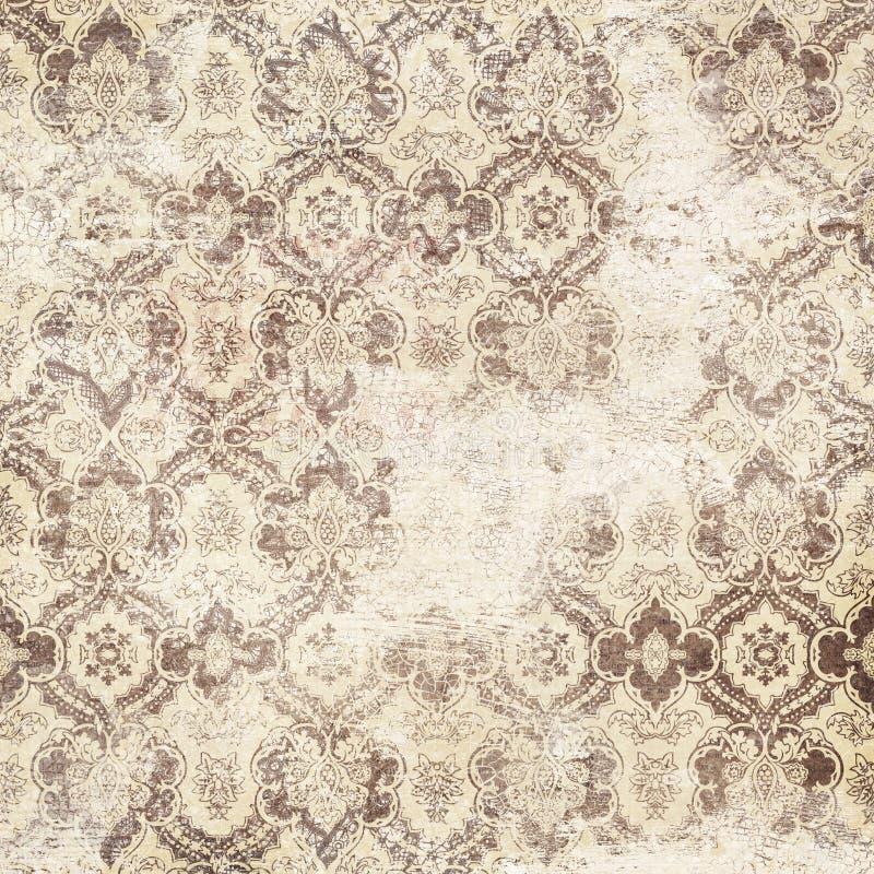 Παλαιά βρώμικη damask ταπετσαρία στοκ φωτογραφία με δικαίωμα ελεύθερης χρήσης