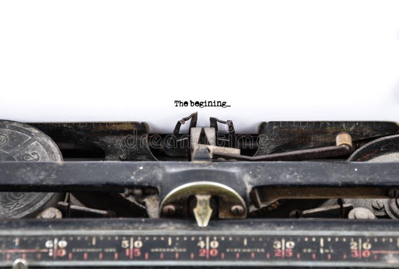 παλαιά γραφομηχανή στοκ εικόνα