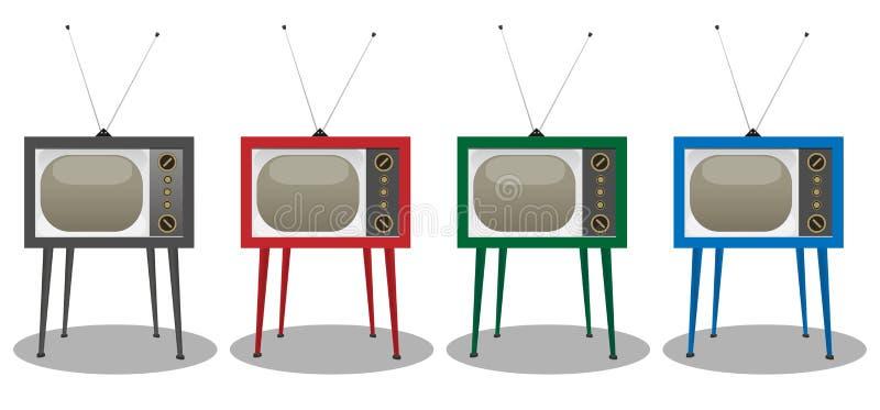 Παλαιά εικονίδια TV στοκ εικόνες