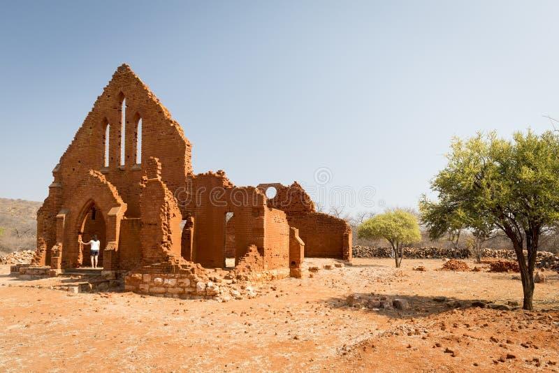 Παλαιά εκκλησία Μποτσουάνα Palapye στοκ εικόνα με δικαίωμα ελεύθερης χρήσης