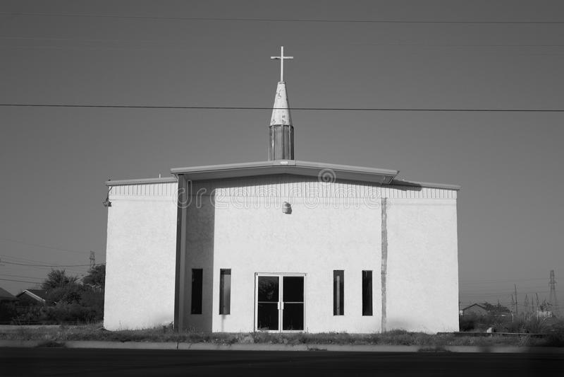 Παλαιά εκκλησία σε Midland, Τέξας στοκ εικόνα