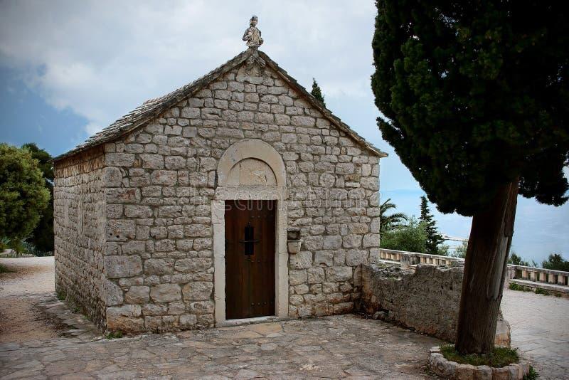 Παλαιά εκκλησία του Άγιου Βασίλη σε Marjan, διάσπαση, Κροατία στοκ εικόνα με δικαίωμα ελεύθερης χρήσης