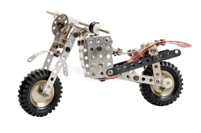 Παλαιά εκλεκτής ποιότητας μοτοσικλέτα παιχνιδιών που απομονώνεται στο άσπρο υπόβαθρο στοκ φωτογραφίες με δικαίωμα ελεύθερης χρήσης