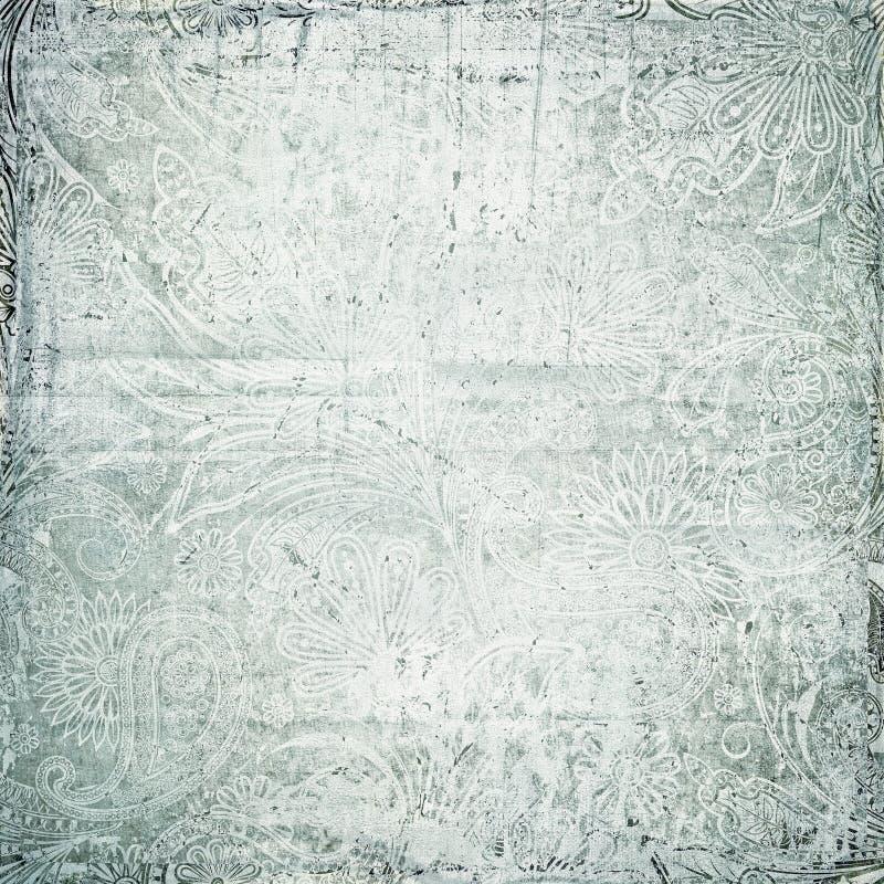 Παλαιά εκλεκτής ποιότητας σύσταση του Paisley στοκ εικόνα με δικαίωμα ελεύθερης χρήσης