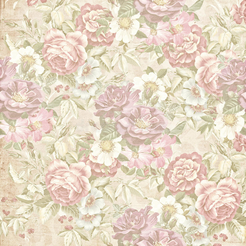 Παλαιά εξασθενισμένη floral ταπετσαρία στοκ εικόνες