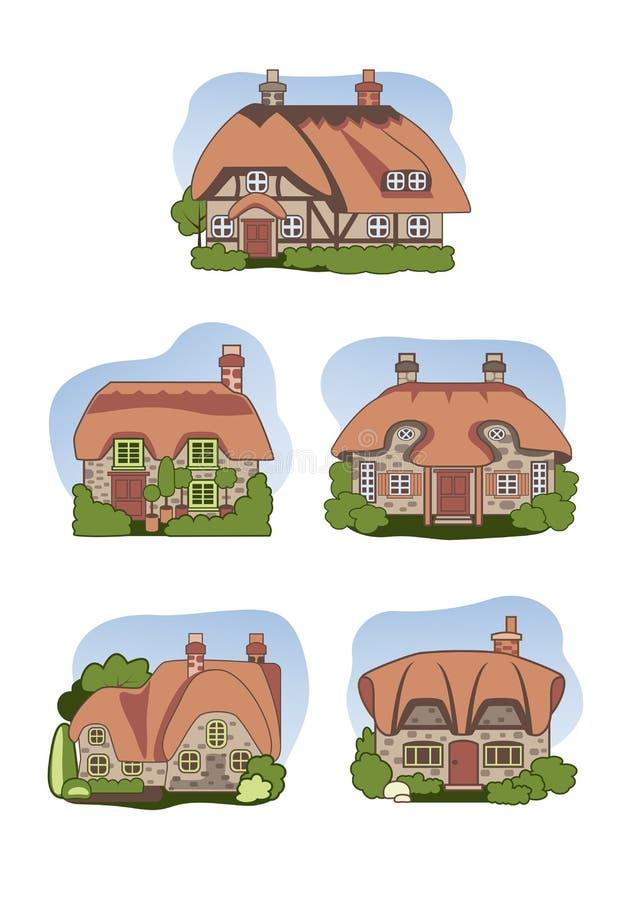 Παλαιά εξοχικά σπίτια στοκ εικόνες