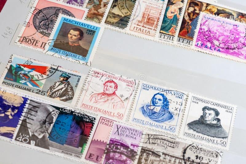 Παλαιά ιταλικά γραμματόσημα στοκ φωτογραφία με δικαίωμα ελεύθερης χρήσης