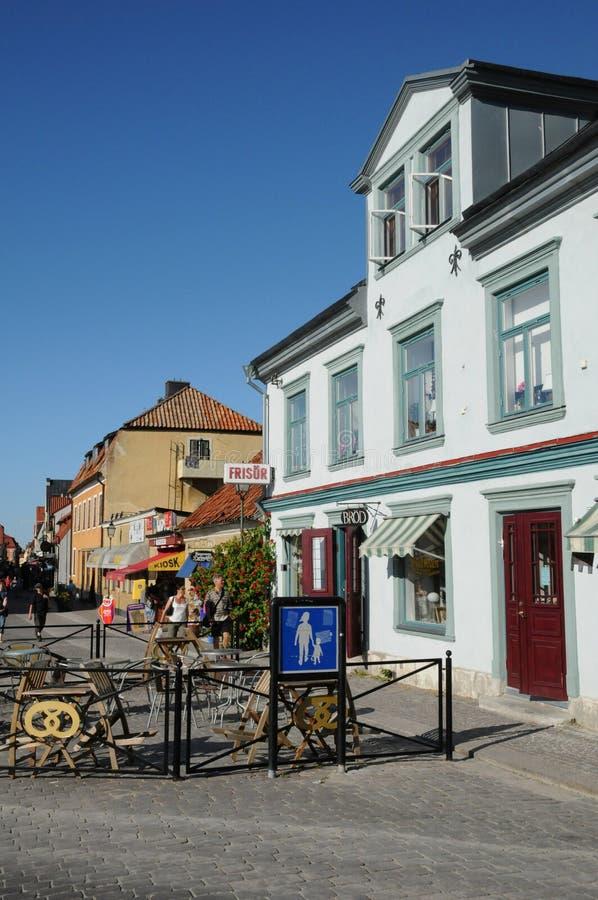 Παλαιά και γραφική πόλη visby στοκ φωτογραφία με δικαίωμα ελεύθερης χρήσης