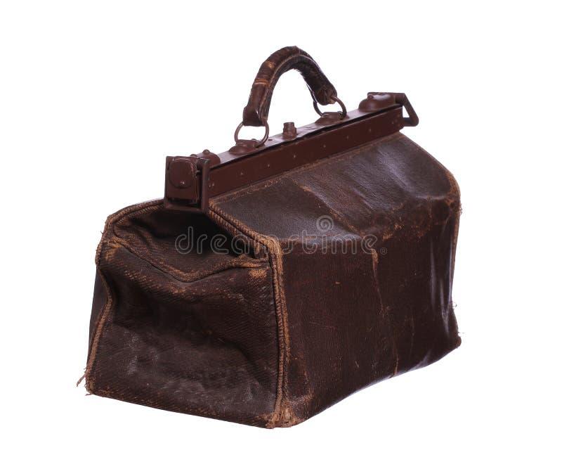 Παλαιά καφετιά τσάντα στοκ εικόνες