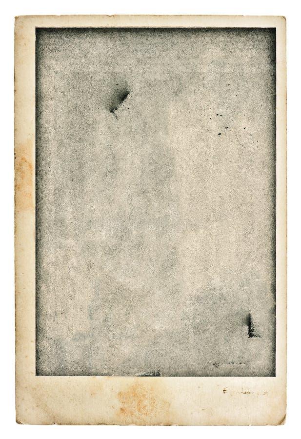 Παλαιά κενή κάρτα φωτογραφιών Εκλεκτής ποιότητας χρησιμοποιημένη grunge σύσταση εγγράφου στοκ εικόνες