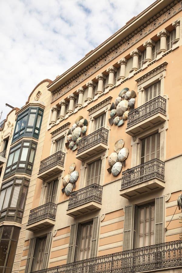 Παλαιά κτήρια Βαρκελώνη στοκ εικόνα