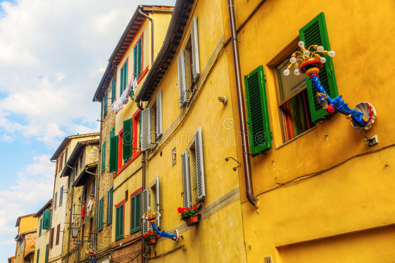 Παλαιά κτήρια στη Σιένα, Ιταλία στοκ φωτογραφία με δικαίωμα ελεύθερης χρήσης