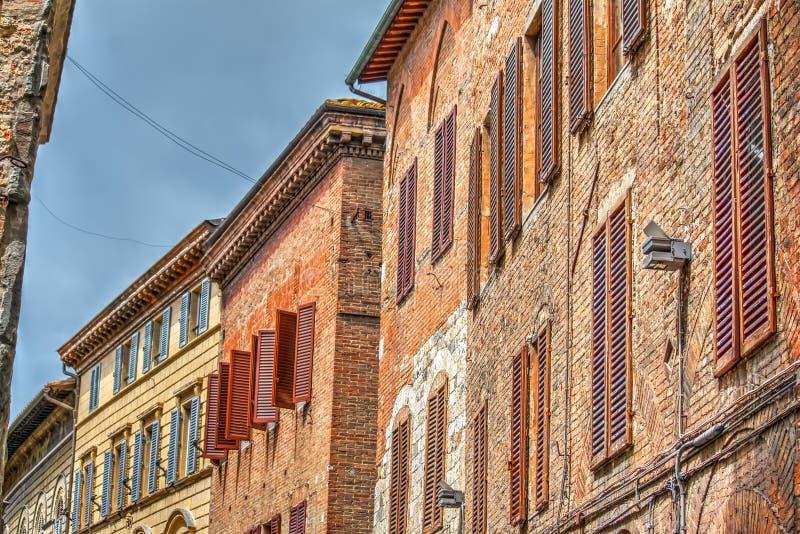 Παλαιά κτήρια στη Σιένα στοκ φωτογραφίες με δικαίωμα ελεύθερης χρήσης