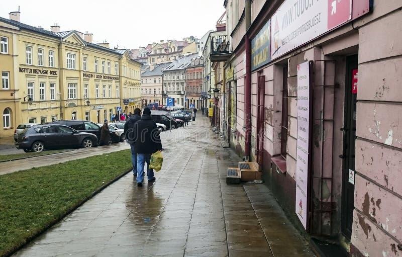 Παλαιά κωμόπολη στο κέντρο πόλεων του Lublin στοκ εικόνα με δικαίωμα ελεύθερης χρήσης