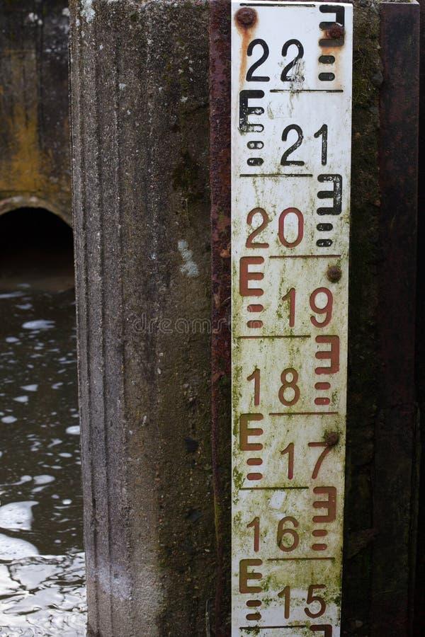 Παλαιά κλίμακα νερού - εκλεκτής ποιότητας μέτρηση στοκ φωτογραφία με δικαίωμα ελεύθερης χρήσης