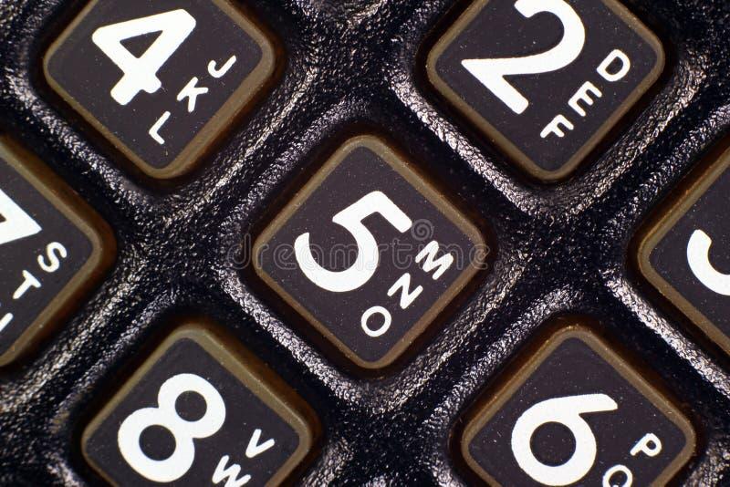 Παλαιά μαύρη κινηματογράφηση σε πρώτο πλάνο τηλεφωνικών αριθμητικών πληκτρολογίων στοκ φωτογραφίες με δικαίωμα ελεύθερης χρήσης