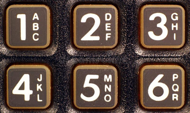 Παλαιά μαύρη κινηματογράφηση σε πρώτο πλάνο τηλεφωνικών αριθμητικών πληκτρολογίων στοκ φωτογραφία με δικαίωμα ελεύθερης χρήσης