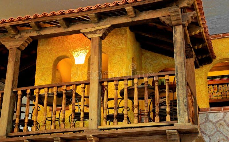 Παλαιά μεξικάνικη ταβέρνα στοκ εικόνες