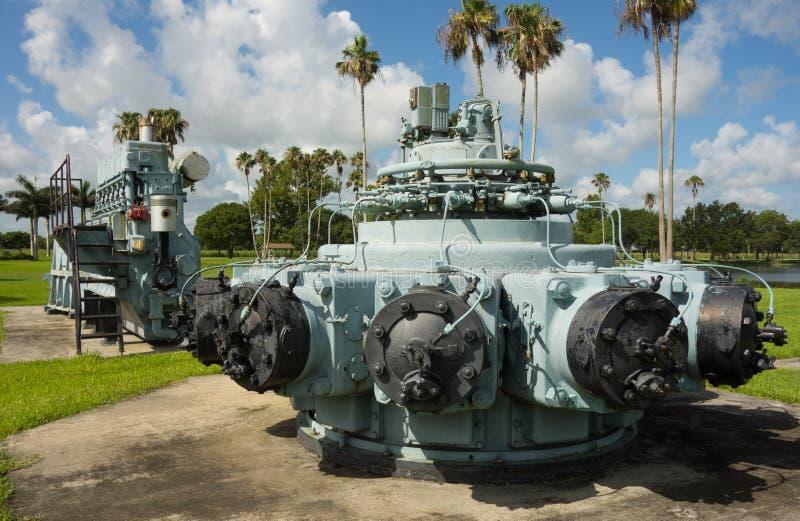 Παλαιά μηχανήματα διαχείρισης των υδάτων στην επίδειξη στη Φλώριδα στοκ φωτογραφία