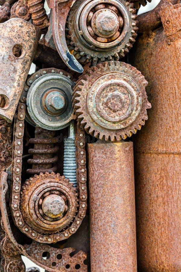 Παλαιά μηχανήματα industrials grunge διαβρωμένες ρόδες εργαλείων και άλλη στοκ εικόνα με δικαίωμα ελεύθερης χρήσης