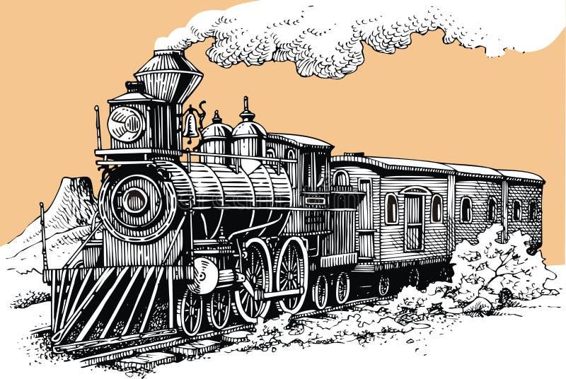 Παλαιά μηχανή ατμού απεικόνιση αποθεμάτων