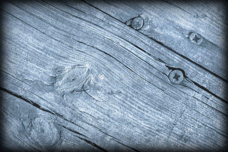Παλαιά ξεπερασμένη ραγισμένη δεμένη Floorboards ξύλου πεύκων σκονών μπλε σύσταση Vignetted Grunge στοκ φωτογραφία με δικαίωμα ελεύθερης χρήσης