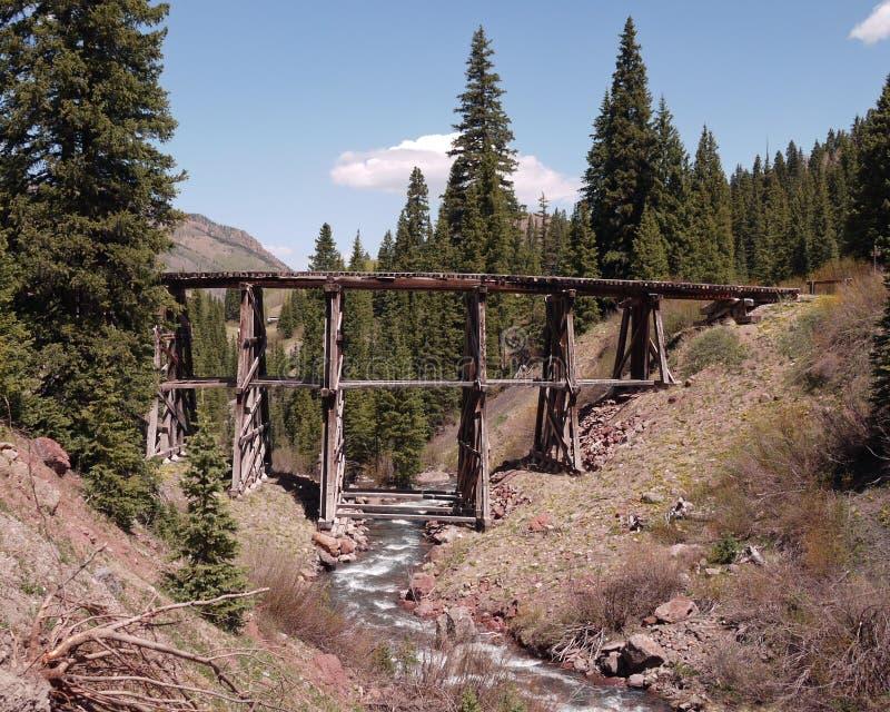 Παλαιά ξύλινη γέφυρα στοκ εικόνες