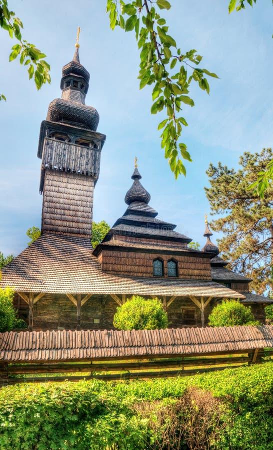 Παλαιά ξύλινη εκκλησία, Uzhgorod, Ουκρανία στοκ εικόνες