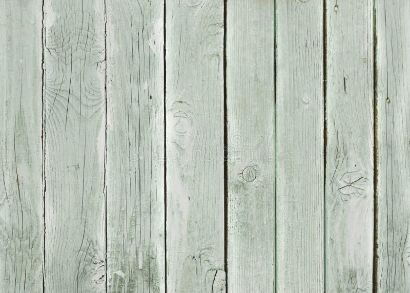 Παλαιά ξύλινη σύσταση με το πράσινο χρώμα αποφλοίωσης στοκ εικόνες