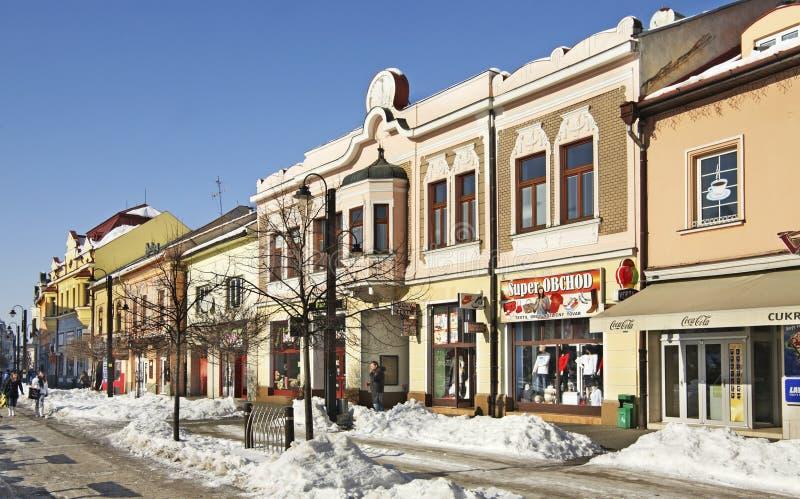 Παλαιά οδός σε Liptovsky Mikulas Σλοβακία στοκ φωτογραφίες με δικαίωμα ελεύθερης χρήσης