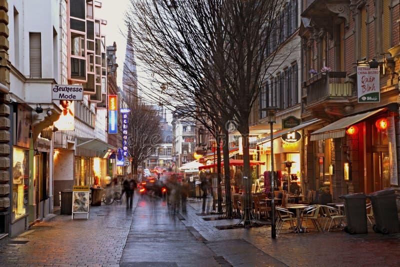 Παλαιά οδός στο Βισμπάντεν Γερμανία στοκ φωτογραφία