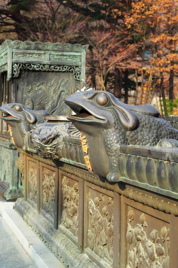 Παλαιά παλαιά αγάλματα Seoraksan, Κορέα. στοκ εικόνες