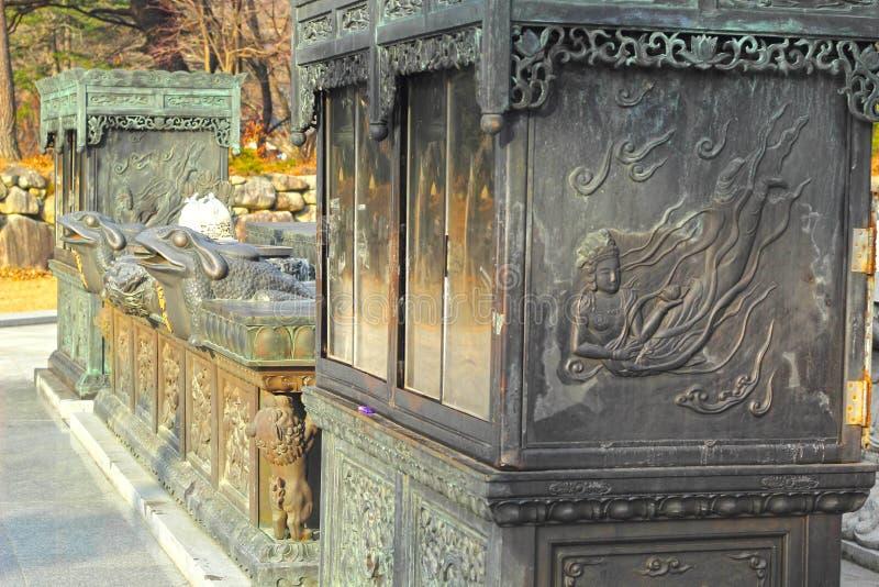 Παλαιά παλαιά αγάλματα Seoraksan, Κορέα. στοκ φωτογραφία