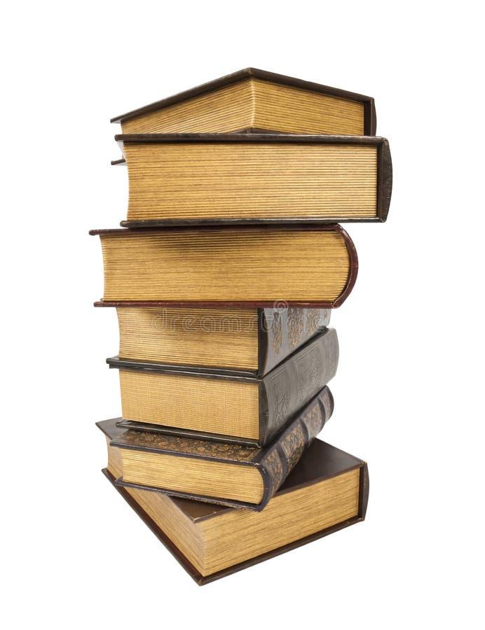 Παλαιά παλαιά βιβλία σε ένα άσπρο κλίμα στοκ εικόνες