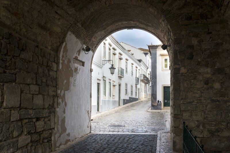 Παλαιά περιοχή σε Faro, Πορτογαλία στοκ εικόνες