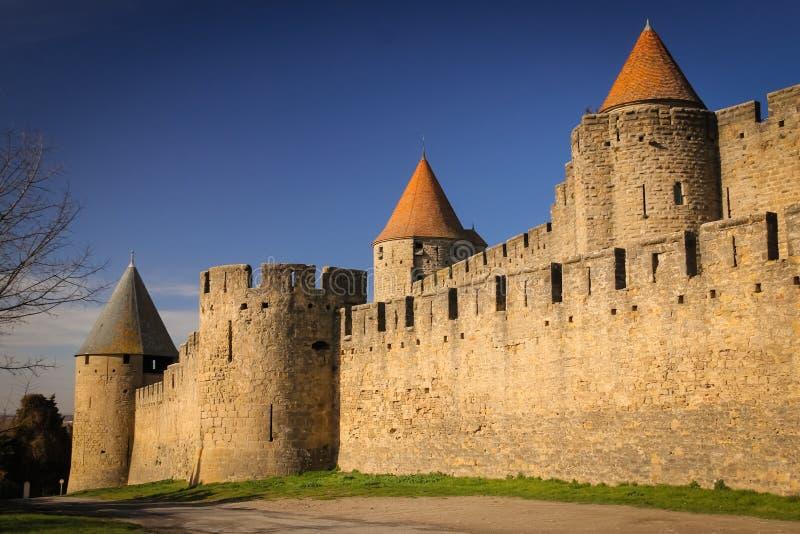 Παλαιά περιτοιχισμένη ακρόπολη Carcassonne Γαλλία στοκ εικόνες