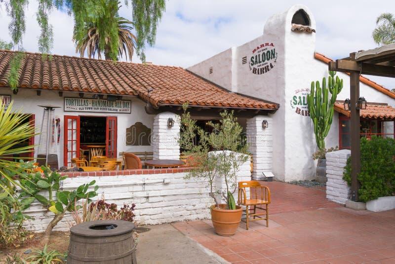 Παλαιά πόλης αίθουσα Barra στο παλαιό κρατικό ιστορικό πάρκο του πόλης Σαν Ντιέγκο στοκ φωτογραφία με δικαίωμα ελεύθερης χρήσης