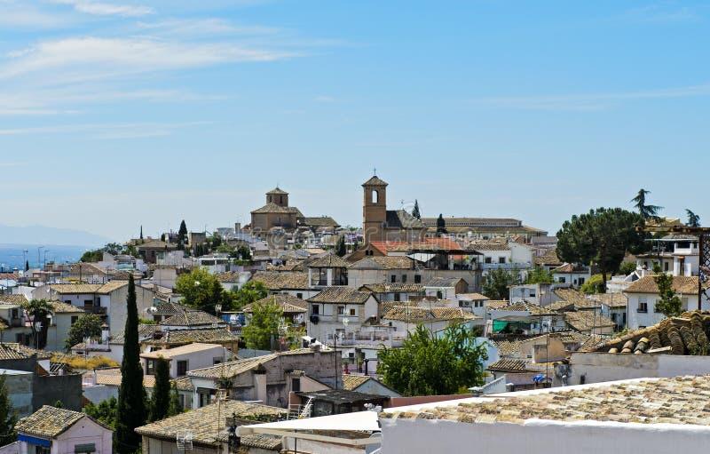 Παλαιά πόλης περιοχή Albayzin στοκ εικόνες