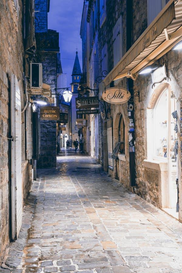 παλαιά πόλη πανοράματος budva στοκ εικόνες