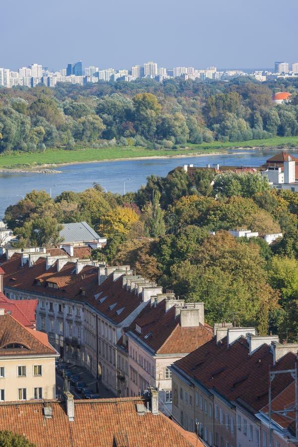 Παλαιά πόλη, περιοχή Mariensztat στη Βαρσοβία στοκ εικόνα με δικαίωμα ελεύθερης χρήσης