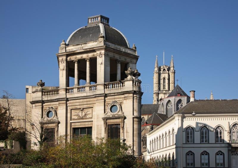 Παλαιά πόλη στη Γάνδη flanders Βέλγων στοκ φωτογραφία με δικαίωμα ελεύθερης χρήσης
