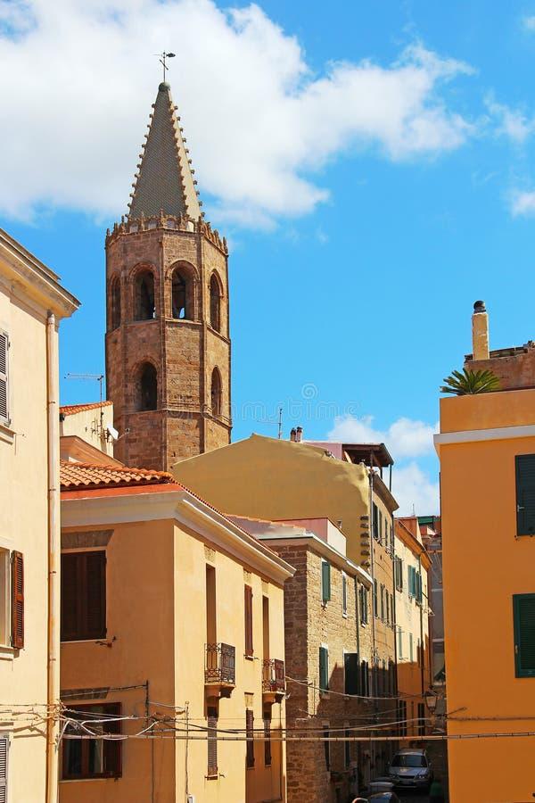Παλαιά πόλη Alghero, Σαρδηνία, Ιταλία στοκ φωτογραφία με δικαίωμα ελεύθερης χρήσης