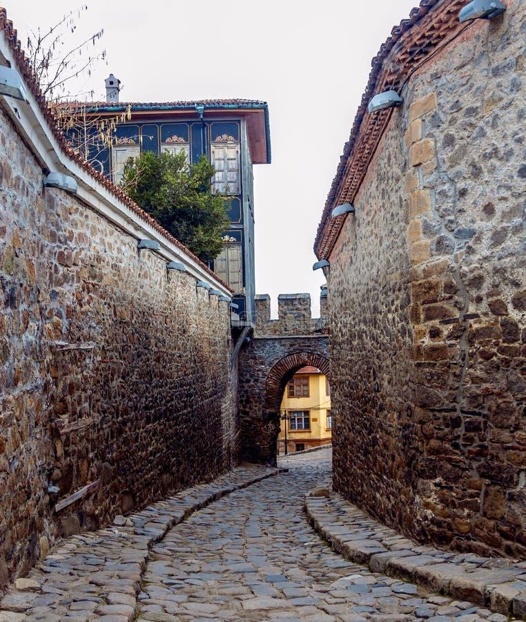 Παλαιά πόλη Plovdiv, Βουλγαρία στοκ εικόνες