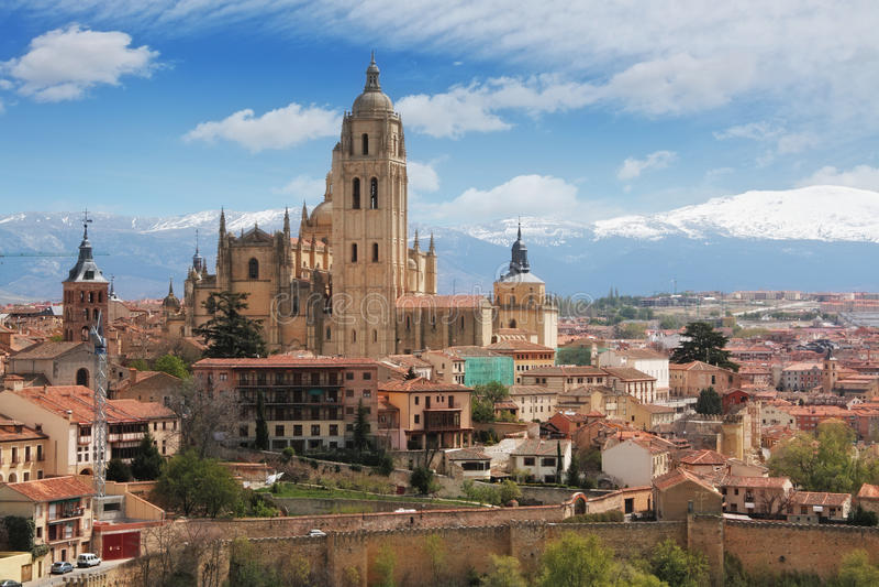 Παλαιά πόλη Segovia, Ισπανία στοκ φωτογραφίες με δικαίωμα ελεύθερης χρήσης