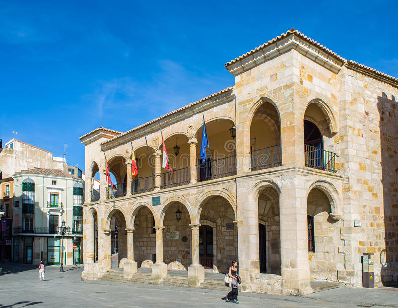 Παλαιά πόλη Zamora, Καστίλλη Υ Leon Ισπανία στοκ εικόνες