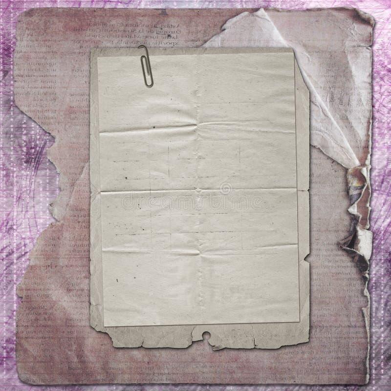 Παλαιά πλαίσια εγγράφου grunge στο αρχαίο υπόβαθρο στοκ εικόνα με δικαίωμα ελεύθερης χρήσης